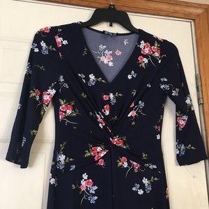 NWOT chaps blue flowered dress